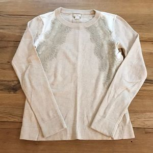 Jcrew Factory Colorblock Lace Sweater XS